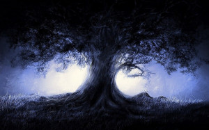 fantasy-blue-landscapes-nature-trees-dark-night-artwork-1920x1080-wallpaper-482547